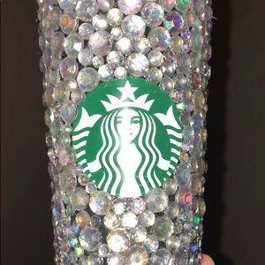 Starbucks silver venti cold tumbler rhinestone cup